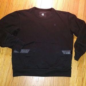 G-Star Raw Rackam R Black Sweatshirt | Medium
